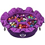 Immense Dice Bags with Pockets - Purple - Capacity 150+ Dice - Great for Dice Hoarders - by CardKingPro [Patented Design]