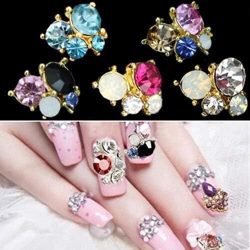 10Pcs Free Shipping Cheap Bargain Gift Super Special SALE held 3D Shiny Metallic Rhinestones Decorations Nail Art Crystal