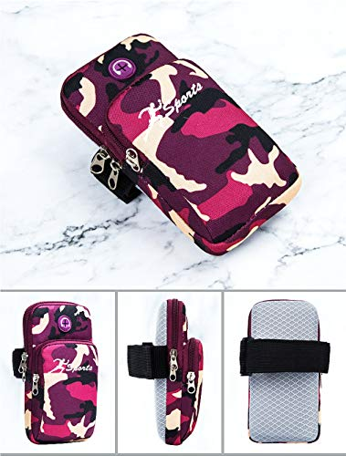 CNBPLS Hombres Y Mujeres Al Aire Libre Camuflaje Running Sports Mobile Phone Arm Bag Multi-Function Sports Arm Bag Yoga Yoga Bag Mobile Phone Bag,04,Small