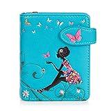 Shagwear portafoglio per giovani donne Small Purse : Diversi colori e design: (oasi farfalle acquamarina/Butterfly Oasis)