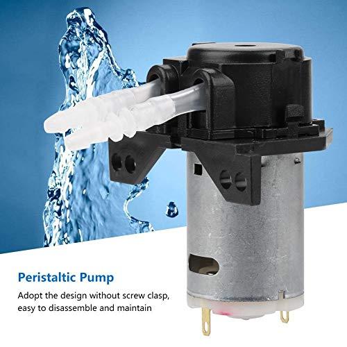 Peristaltische pomp, 12 V, 3 x 5 doseerpomp DIY peristaltische slang hoofd voor aquarium laboratorium chemische analyse (kleur: zwart)