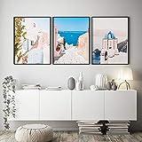 TZZXYXGS Minimalistische Wandkunst Santorini Griechische
