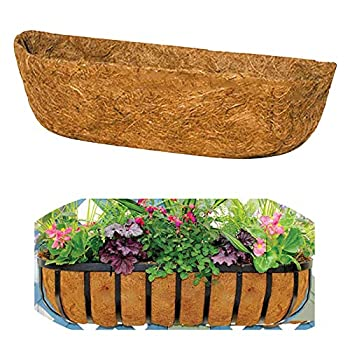 Coco Liner Trough Coco Liners for Planters 24inch Planter Basket Liners Trough Coco Coir Coconut Fiber Replacement Liner for Wall Hanging Baskets Garden Planter Flower Pot Vegetables Window Box