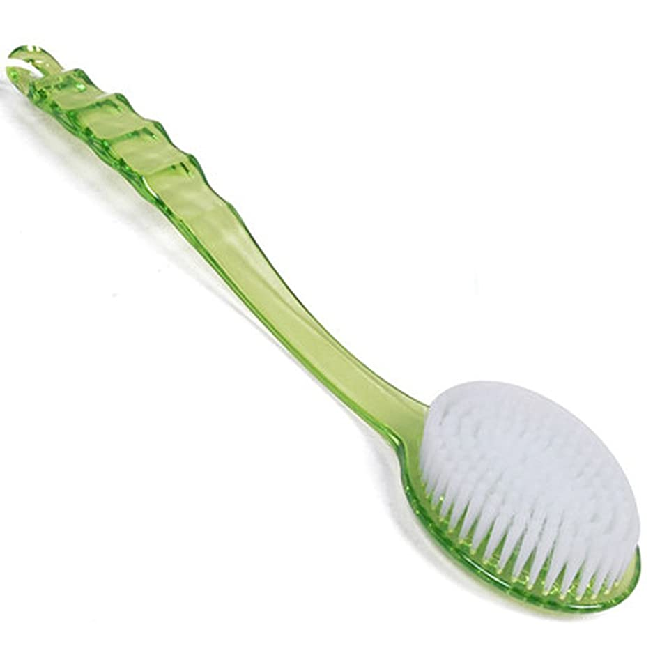 名義でバタフライ注釈を付けるストック男性女性バスブラシスパスクラバーシャワーブラシプラスチックハンドル(緑色)