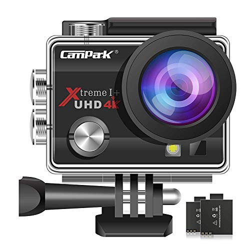 Campark ACT74 Sports Action Camera 4K 16MP 30M Underwater Waterproof Camcorder WiFi 2 Batteries Mounting Accessories Kits