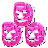 Schramm® 3er Set Kühlmasken Pink Gesichtsmaske Kühlmaske Kühlbrille Augenmaske Gelmaske...