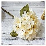 Flores artificiales 1 paquete de hortensia de seda otoño otoño jarrón para la decoración del hogar Navidad decorativa decorativa novia ramo de ramo conjunto de flores artificiales barato ( Farbe : 7 )