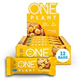 ONE Plant Protein Bars, Banana Nut Bread, Vegan, Gluten Free Protein Bars with 12g Protein & Only 1g Sugar, Guilt-Free Snacking for High Protein Diets, 1.59 Oz (12 Pack)