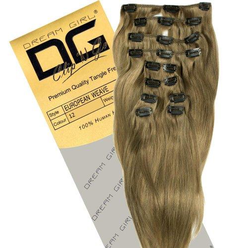 Dream Girl Extensions de cheveux à clipser Couleur 12 35,6 cm