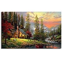 ファッションキャンバス絵画 ボブロス絵画風景アートポスター壁絵プリント家の寝室の装飾油絵ポスターフレームなし 60*90cm