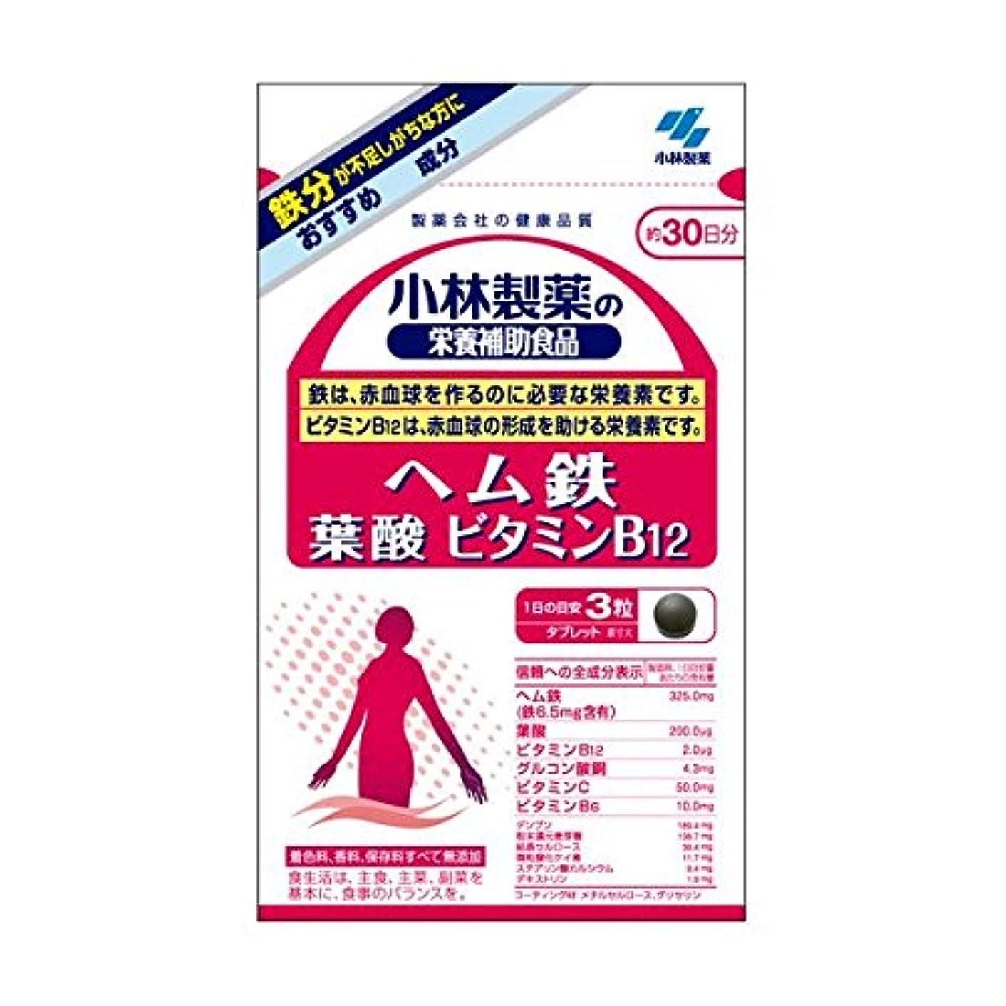 悲観的若いロケット小林製薬 小林製薬の栄養補助食品ヘム鉄葉酸ビタミンB12 90粒×2