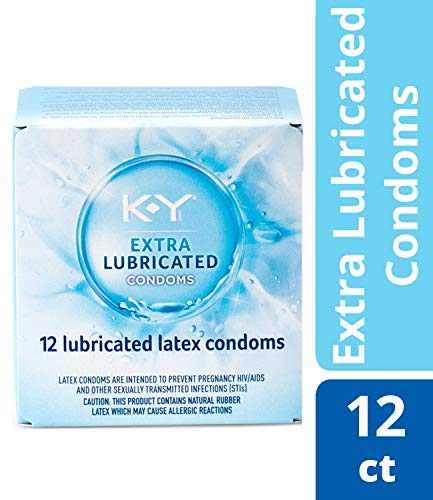 Condoms, K-Y Me & You Extra Lubricated Ultra Thin Latex Condoms. Extra Lubricated for Her & Natural Fit for Him for Comfort & Smoothness, 12 Cnt. Latex Condom with Water-Based Lubricant. HSA Eligible