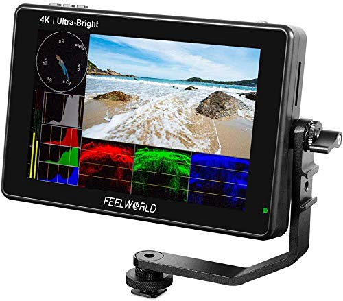 FEELWORLD LUT7 7 Inch Field Monitor 4K 1920x1200 Ultra Bright 2200nit Touch Screen Camera DSLR Video Assist 3D Lut Waveform Vectorscope Input 8.4V DC Output Tilt Arm (LUT7 7'' HDMI)