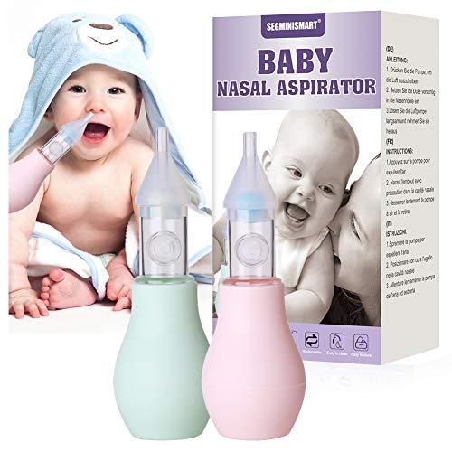 Nasensauger Baby, Nasal Aspirator, Baby Nasensauger, Nasensekretsauger, Nasal Reiniger Set, 2Pcs Nasensekretsauger + Nasen Pinzette, Tragbar Baby Nasal Aspirator für Neugeborene und Kleinkinder