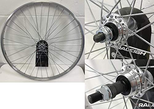 Raleigh TRU BUILD 26' Alloy Rear Mountain Bike Wheel - Freewheel Fit - Nutted - Silver - RGR810