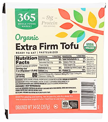365 by WFM Organic Extra Firm Tofu, 14 OZ