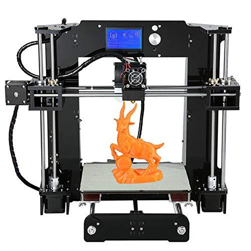L.J.JZDY Imprimante 3D A n e t A6 3D Imprimante Kit DIY Ensemble Haute Précision Auto Assemblée Heatbed LCD Écran Affichage TF Carte Off-Line Impression