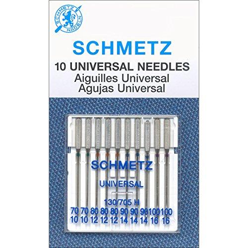 Euro-Notions, Aghi per Macchine da Cucire universali, Misura 70 80 90 100 10 Pkg, Multicolore