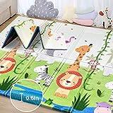 bebé juego cojín almohadilla de juego almohadilla de espuma engrosada colchoneta plegable de trepar impermeable y portátil apto para niños