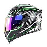 NBSMN Casco De Motocicleta, Motorbike Modular Tipo Flip-Tipo Doble Sol Casco Completo, Casco Certificado De Dot/ECE, Gafas De Montar Gafas Off-Road Quad Bikes B-M