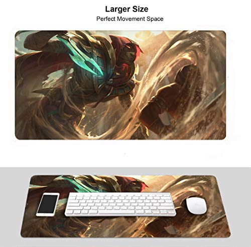 Extended Size Professional Gaming Mouse Pad for League Legends, Stitched Edges Ultra Thick 3Mm (Sand Wraith Pyke)