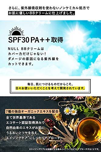 NULLBBクリームメンズコンシーラーファンデーション20gSPF30PA++(メーキャップ効果で青ひげ/クマ/ニキビ跡を隠す日焼け止めとしても)