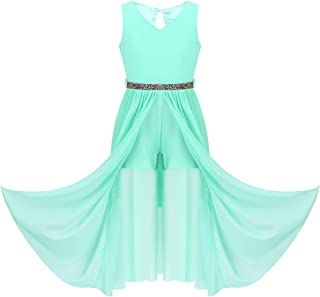 YOOJIA Kids Girls Birthday Party Gown Bridesmaid Maxi Long Dress Daddy Daughter Dance A-Line Swing Outfit