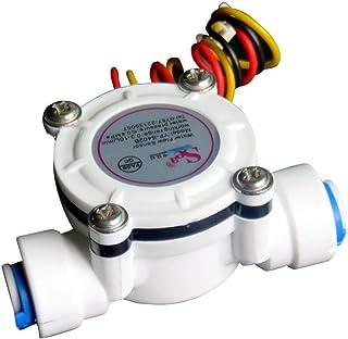MJJEsports Dn6 G1/4 Pe Medidor De Caudal De Agua Sensor Contador Medidor Flujómetro 0