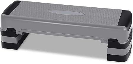 COSTWAY 90 cm Aerobic stepper met 4 verwijderbare verhogers, 15/20/25 cm verstelbare hoogte stepbank step platform, cardio...