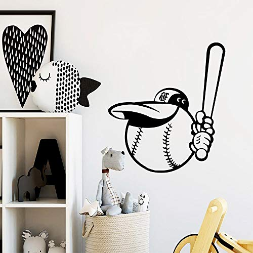 fdgdfgd Beauty Baseball Wandaufkleber Aufkleber Art Wallpaper für Kinderzimmer DecorationStickers Wasserdichtes Vinyl-Wandbild 43 cm x 47 cm