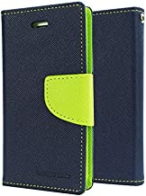Sparkling Trends Mercury Goospery Fancy Diary Wallet Flip Cover Case for Micromax YU Yuphoria YU5010 Blue