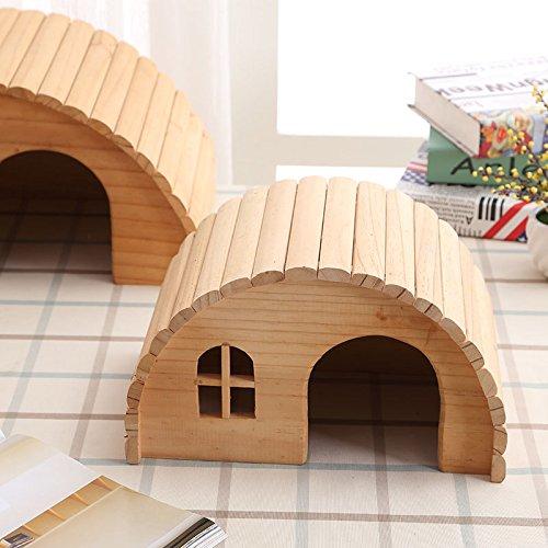 Willlly Maison pour hérisson avec sol en bois pour hamster Totoro Printemps Automne Petite maison Accessoires pour animaux domestiques (couleur : A, taille : 18 x 13 x 10,5)