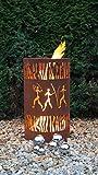 Feuertonne Afrika Edelrost Säule Rost Feuerkorb Feuerschale