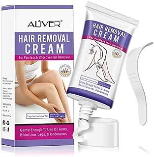 Hair Removal Cream, Depilatory Cream for Sentitive Skin, Underarm, Leg and Bikini Body, Hair Removal Cream Skin Friendly, Natural Painless Flawless Hair Removal Cream for Women and Men
