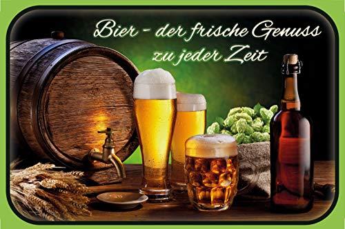 Rahmenlos - Cartel de chapa (20 x 30 cm), diseño de cerveza