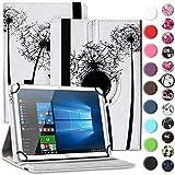Nauci Tablet Hülle für Xido Z120 Z110 X111 X110 Tasche Schutzhülle Hülle Cover aus Kunstleder Standfunktion 360° Drehbar, Farben:Motiv 7