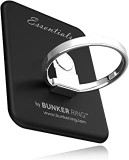 BUNKER RING Essentials(Matt 6) バンカーリング iPhone/iPad/iPod/Galaxy/Xperia/スマートフォン・タブレットPCを指1本で保持・落下防止・スタンド(ブラック )