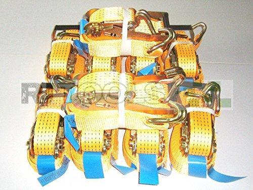 10 x 5000 kg spanband 8 m EN 12195-2 ratel sjorriem spanriem ratelspanband tweedelig 5 T
