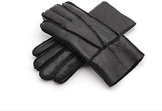 New Men Winter Gloves Warm Genuine Sheep Fur Gloves for Men Thermal Goat Fur Cashmere Real Leather Leather Snow Gloves Manual Men Gloves Winter Gloves Winter Mens Warm Gloves