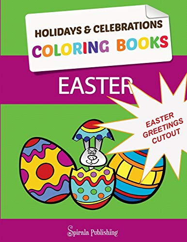 Easter Coloring Book Greetings: Color and Cut Out Your Special Easter Greetings: Coloring Pages and Cut Outs for Kids