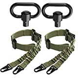 SMALLRT 2 PCS 2 Point Sling Adjustable Rifle Sling with 2 Pack QD Sling Swivels, Push Button Quick Release Sling Attachment Point, QD Sling Mount is not Included