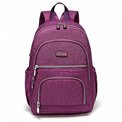 AOTIAN Lightweight Durable Travel Hiking Women and Girls Small Backpack Daypack 9 Liters Purple