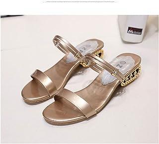De Estacones Wy2h9diee Color Sandalias Champagne Zapatos Amazon Vestir 543ALRqcj