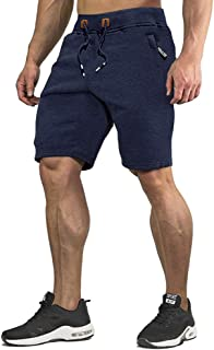 CRYSULLY Men's Cotton Joggers Casual Workout Shorts...