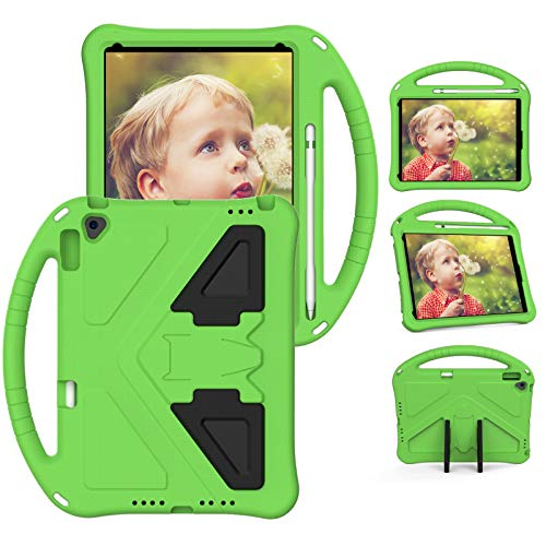 XunyLyee Compatible with iPad Air 2019 Case, Shockproof Handle Stand Lightweight Cover Kids Case for iPad Air 2019 /iPad Air 3 10.5' 2019 /iPad Pro 10.5' 2017 - Green