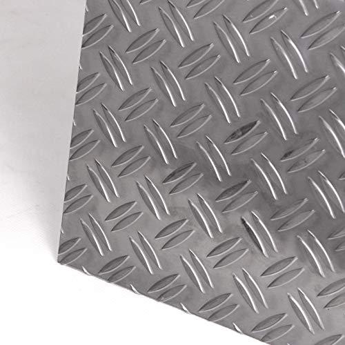 Aluminium Riffelblech 2,5/4,0 mm Duett Warzenblech Tränenblech Zuschnitt nach Maß (1250x1250mm)