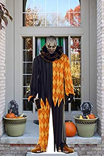 Aahs!! Scary Cardboard Cutout Life Size for Halloween Decorations | Haunted House Standup Decor with Mannequins | Outdoors and Indoors | Cannibal Clown with Hammer