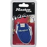 Master Lock 4603EURD 4603 Cable 0.70MX2MM RETACTABLE Cierre COMBINACION (4u Varios Colores), MULTICOLOR, ESTANDAR