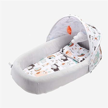 Hbitsae Riduttore Lettino Multifunzionale Baby Nest Pod lettino da viaggio Neonato Antisoffoco Riduttore per 100/% cotone fasciatoio per neonato e neonati letto Bionic Cotone