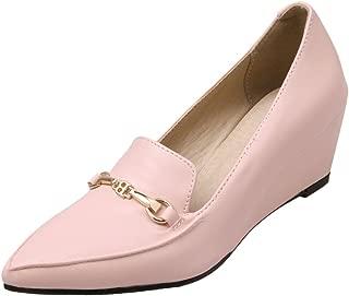 Women's Point Toe Wedge Heel Dress Shoes